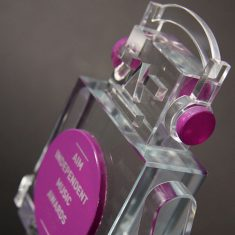 AIM Independent Music - Bespoke Glass Awards