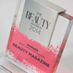 BEAUTY AWARD - Bespoke Glass Trophy