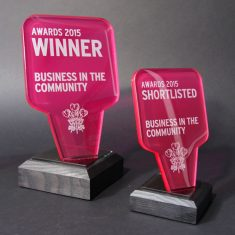 business in the community - Glass Trophies & Awards