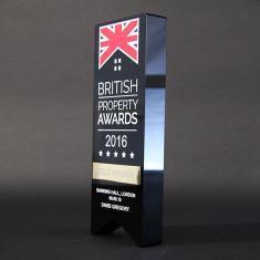 british property - Bespoke 3D Crystal Award