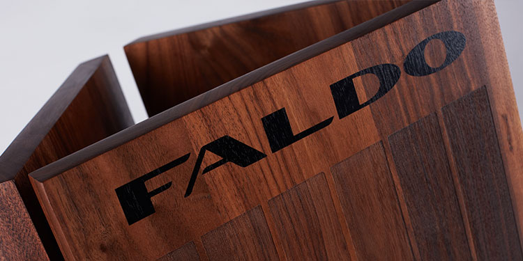 Wooden golf trophy for the Faldo Series