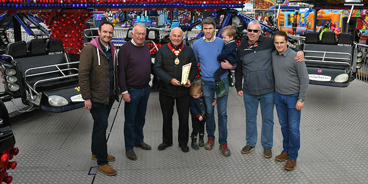 Custom engraved trophy presented at Hull Fair