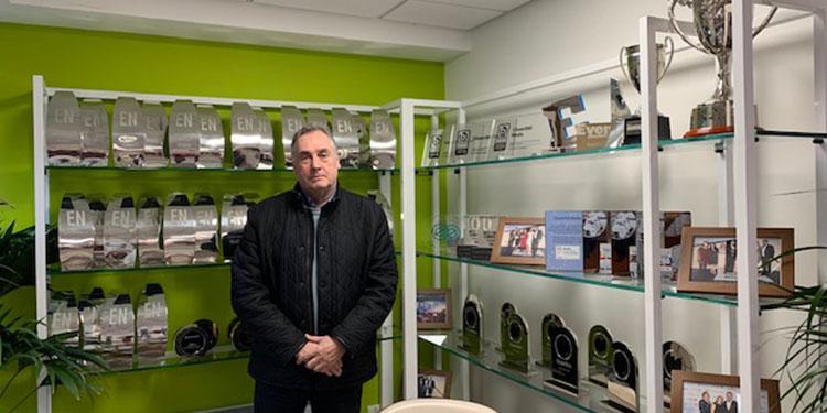Philip Soar Chairman of CloserStill Media at EFX trophy showroom