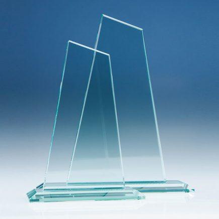 20 and 25cm jade glass mountain awards