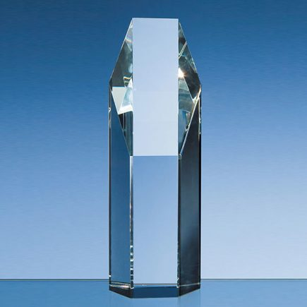 19cm crystal hexagon award