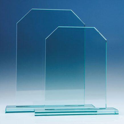 25cm and 15cm jade glass honour awards